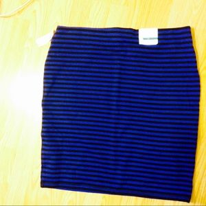 NWT! Flattering, cobalt striped skirt. Day-to-Nt!